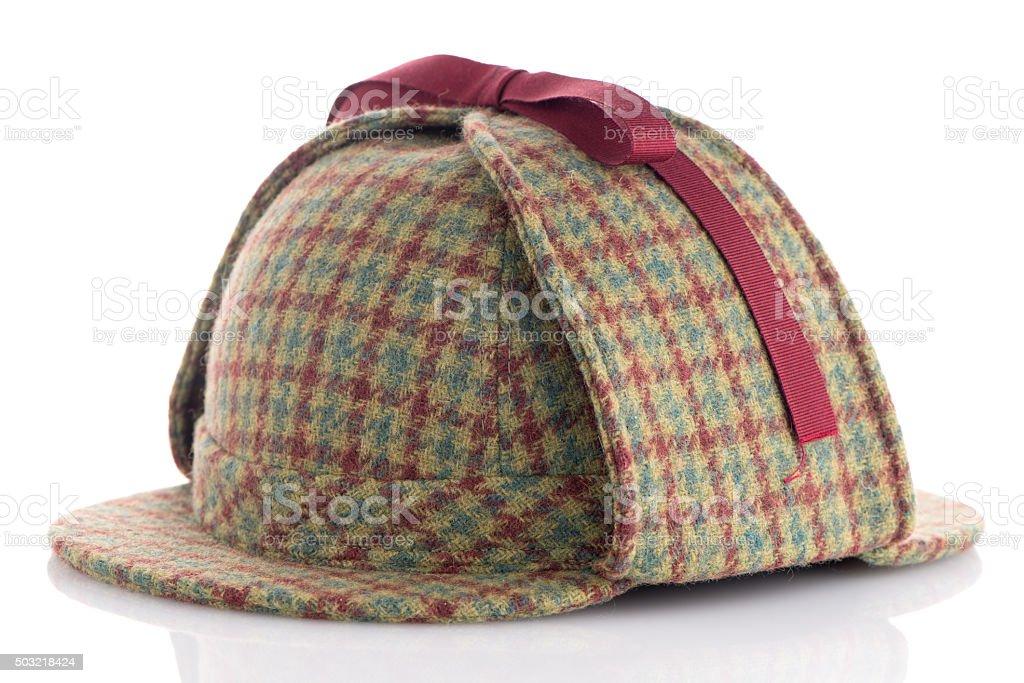 British Deerhunter or Sherlock Holmes cap stock photo