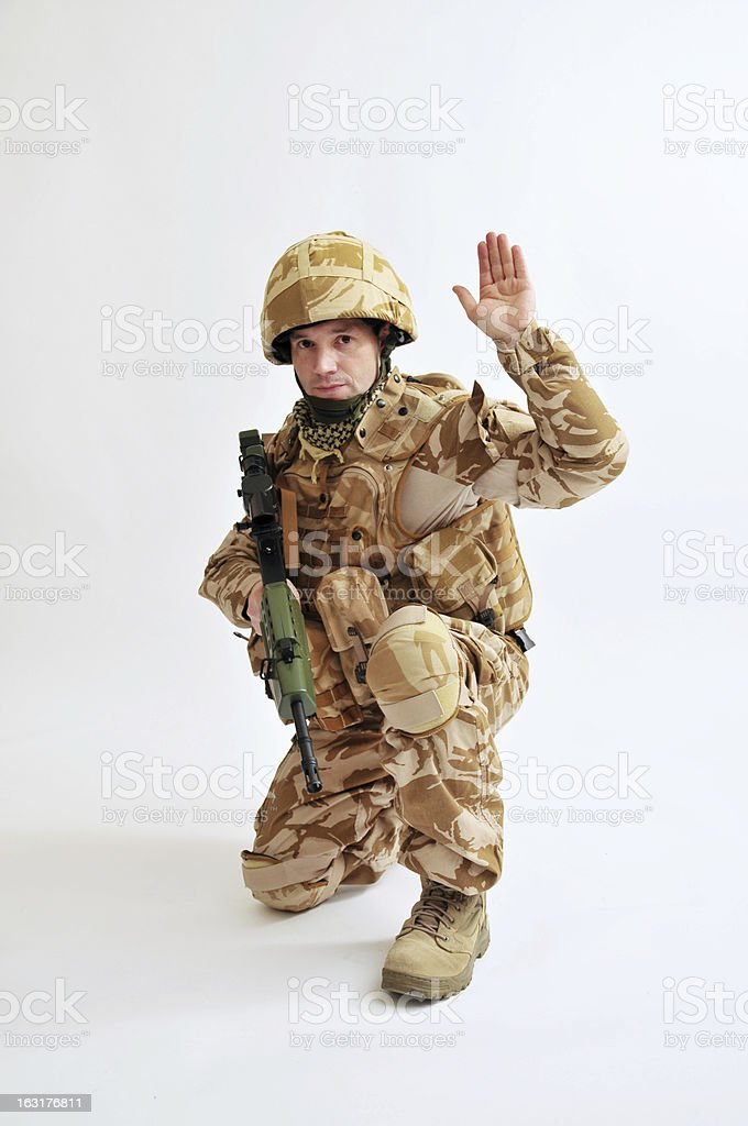 British Desert Soldier stock photo