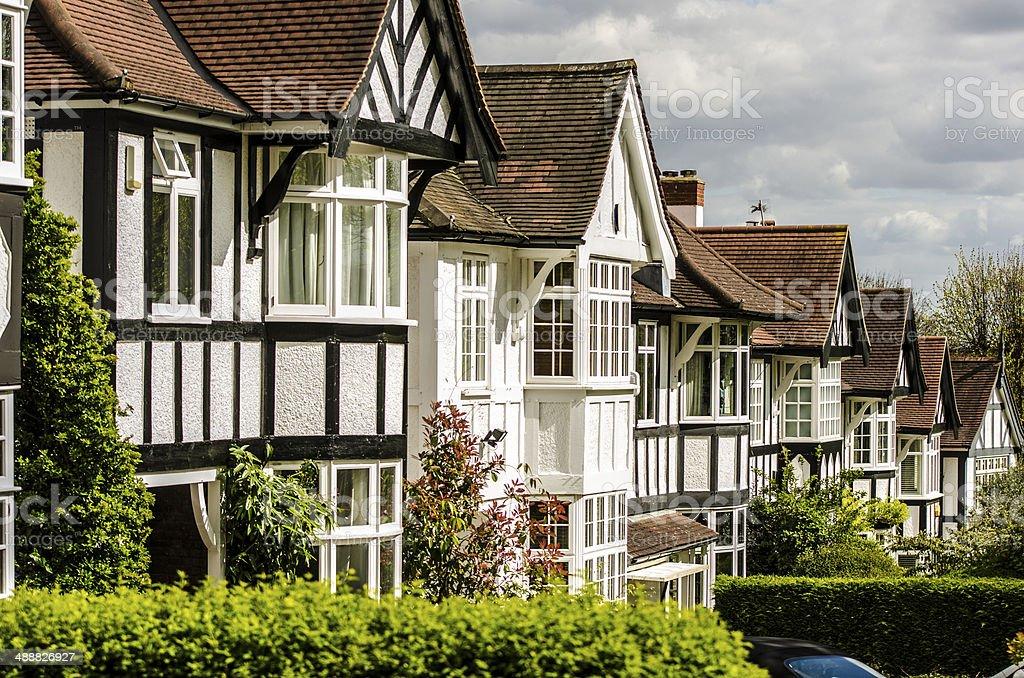 British detached tudor houses stock photo