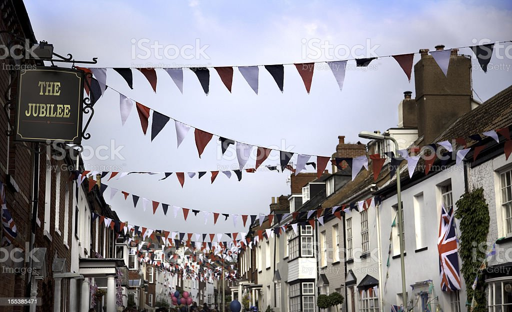 British Diamond Jubilee Street Party royalty-free stock photo