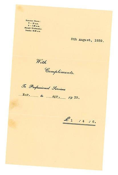 British médecin de facture, 1939 - Photo
