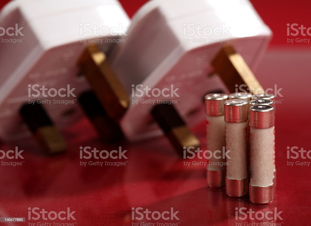 British electrical plugs royalty-free stock photo