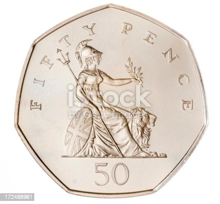 British Fifty Pence Coin Stock Photo More Pictures Of British Coin