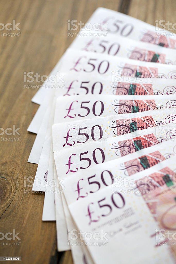 notes de 50 livres sterling britannique - Photo