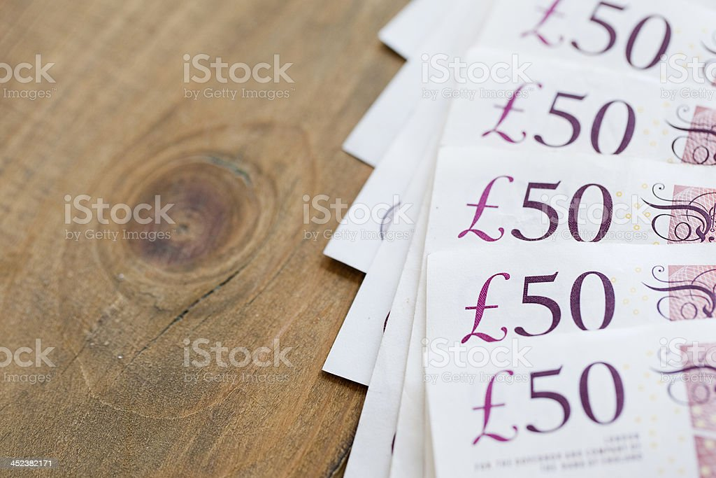 notes de 50 livres sterling britannique - Photo