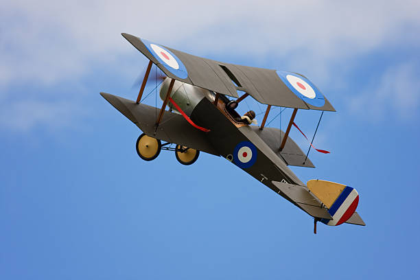 British First World War single-seat biplane fighter aircraft stock photo