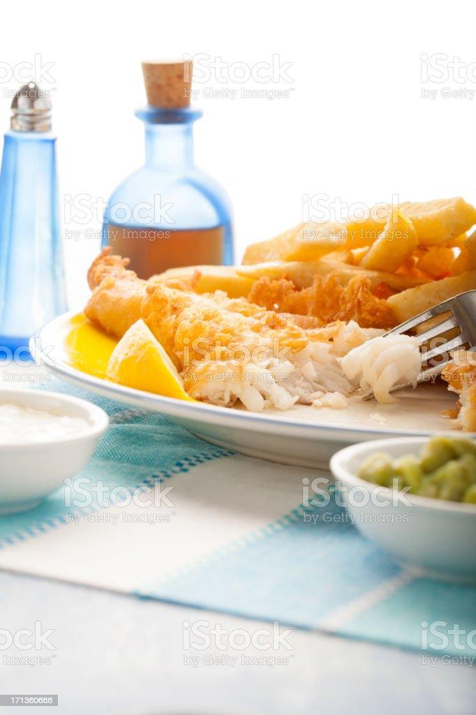 British fish and chips royalty-free stock photo