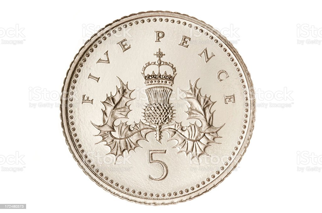 British Five Pence Coin Stock Photo More Pictures Of British Coin