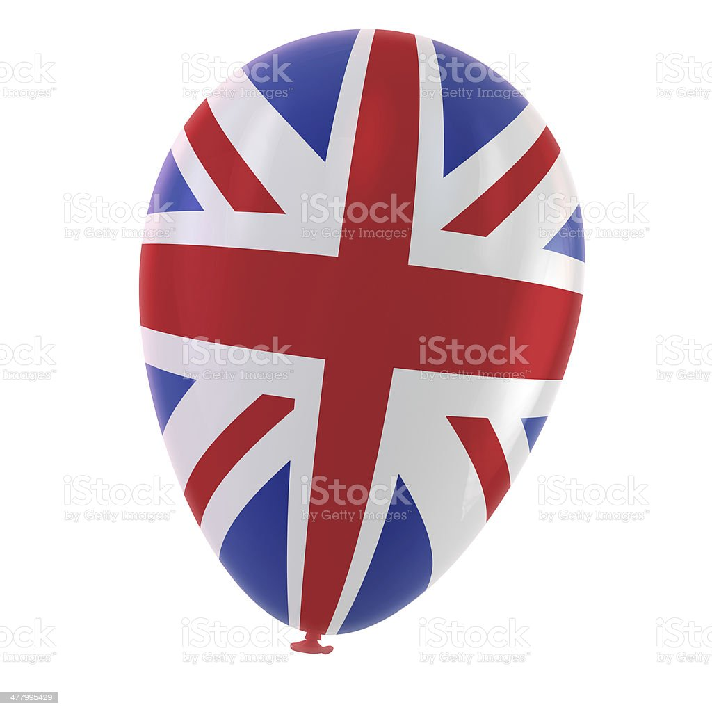 British Flag Balloon royalty-free stock photo
