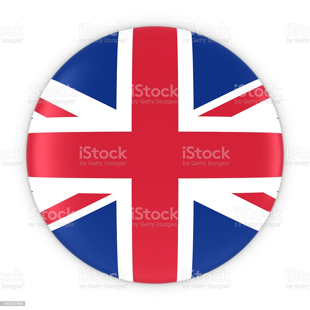 british flag button flag of the uk badge stock photo 542201926