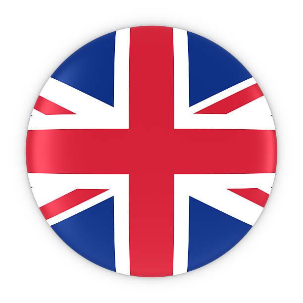 British Flag Button - Flag of the UK Badge stock photo