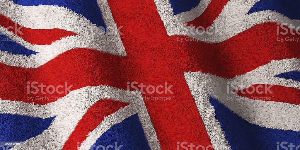 British Flag - Fluffy royalty-free stock photo