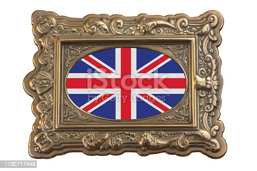 British flag framed  Retro style frame