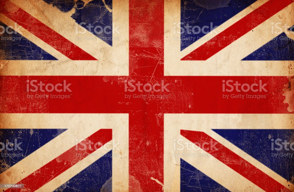 British Flag Grunge XXXL stock photo