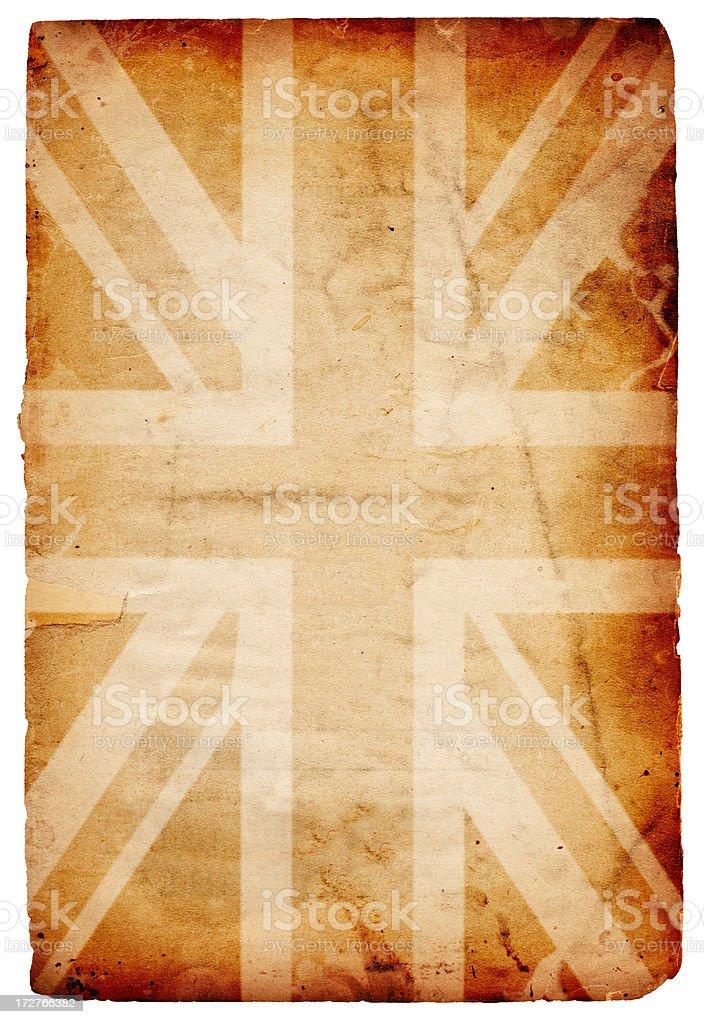 British Flag Grunge XXXL stock photo