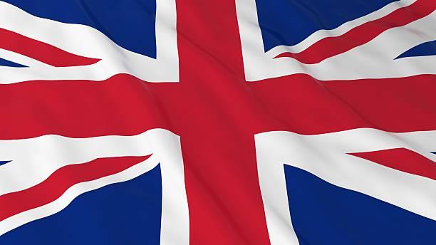 British Flag HD Background - Flag of the UK stock photo