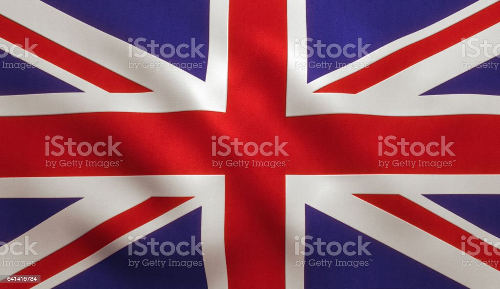 UK British Flag stock photo