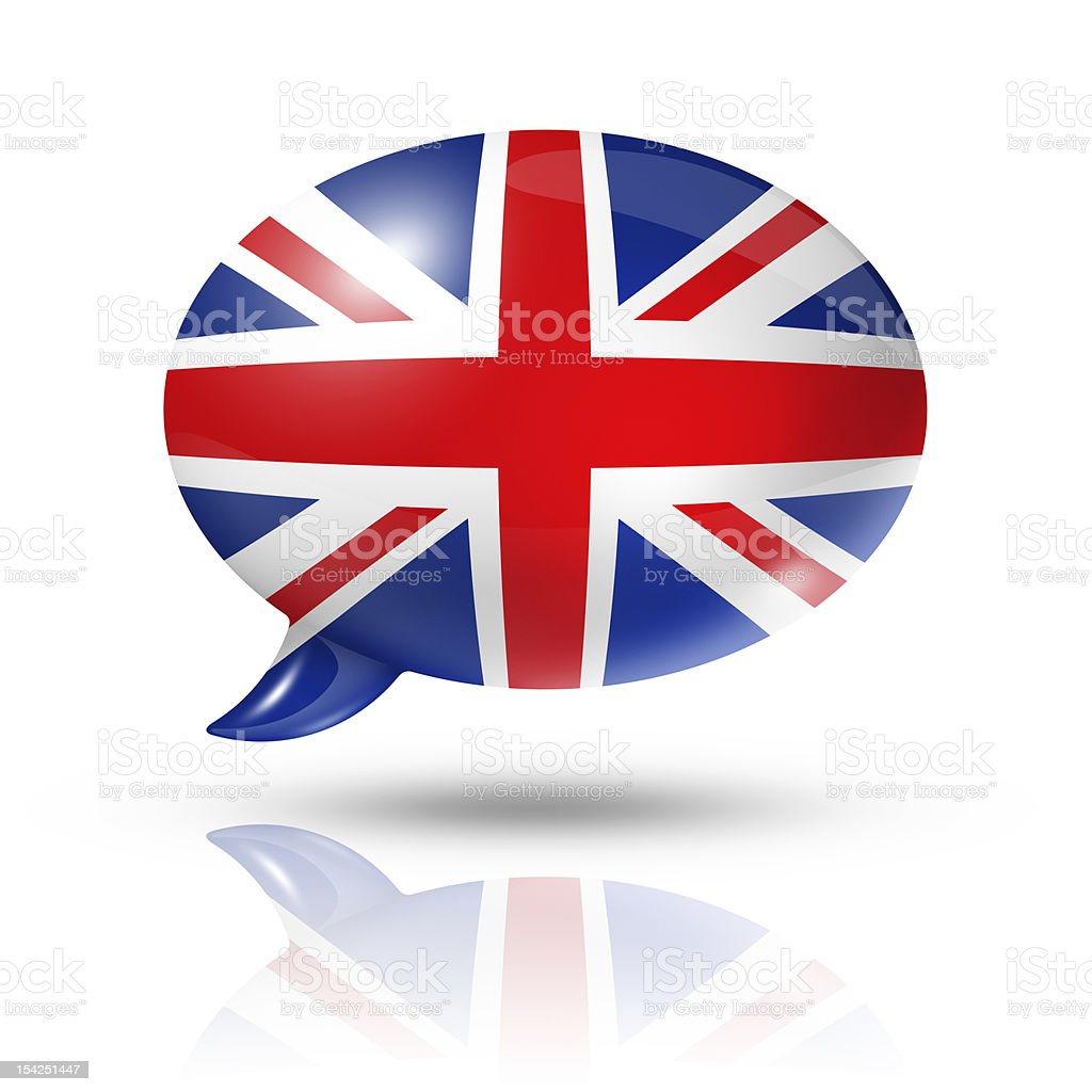 British flag speech bubble royalty-free stock photo