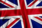 British flag waving background