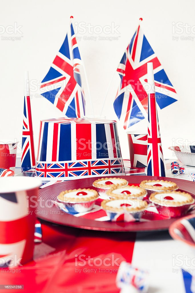 British Flags Jubilee royalty-free stock photo