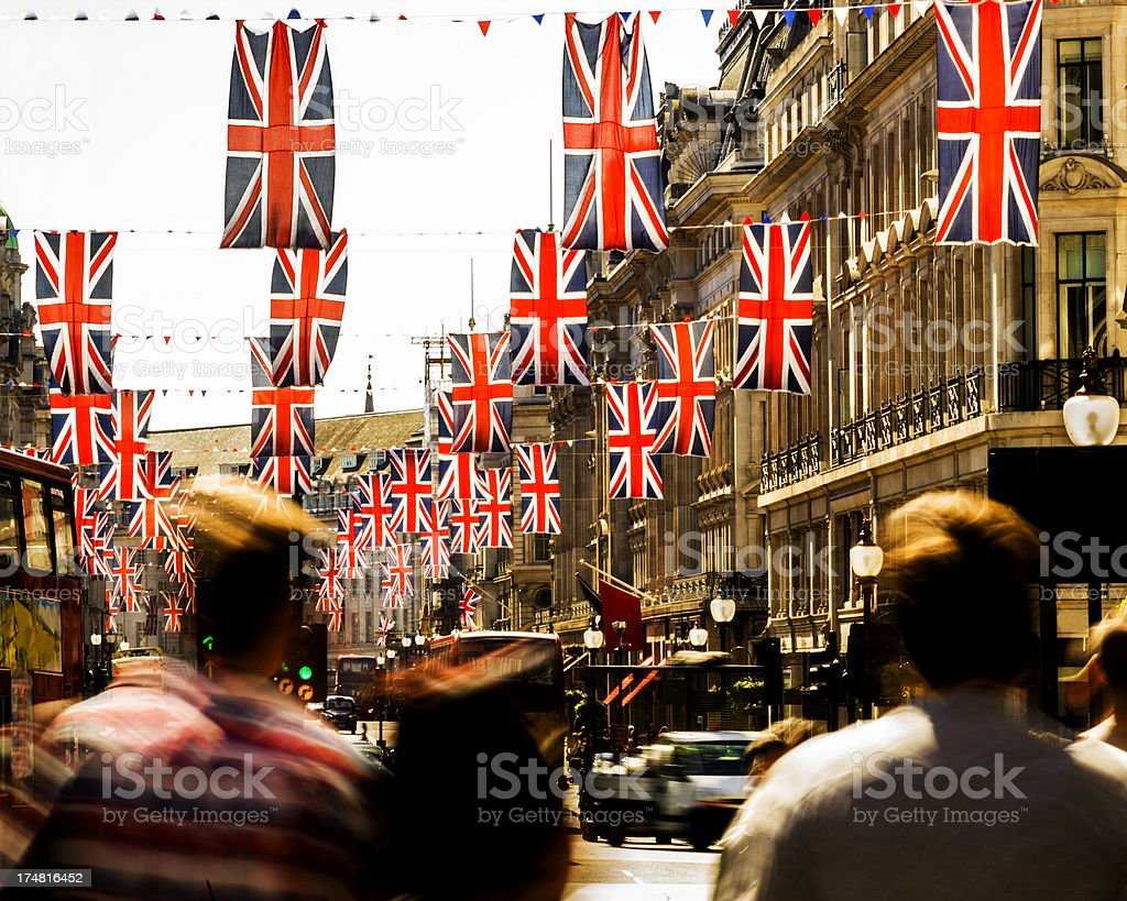 British Flags stock photo