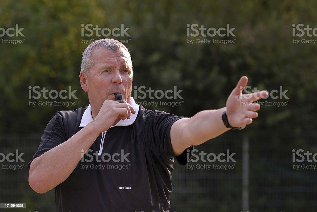 British Football Referee. royalty-free stock photo