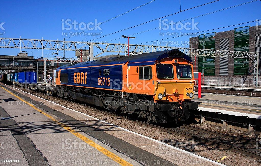 British Freight Train stock photo