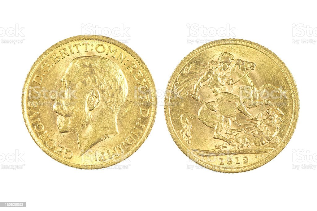 British Gold Coins royalty-free stock photo