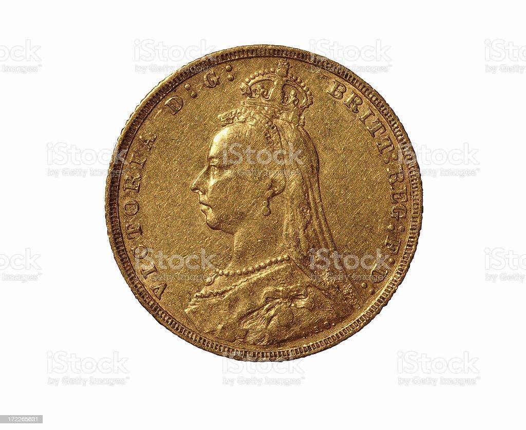 British Gold Sovereign royalty-free stock photo