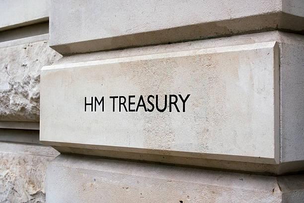Gobierno británico y de tesorería señal - foto de stock