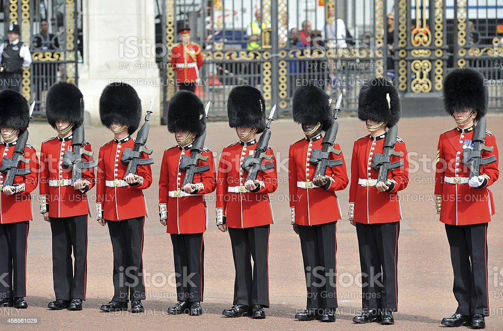 British Guards in Bearskins royalty-free stock photo