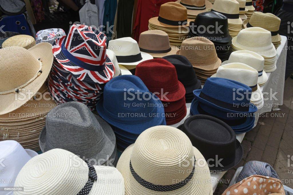 British hats stock photo