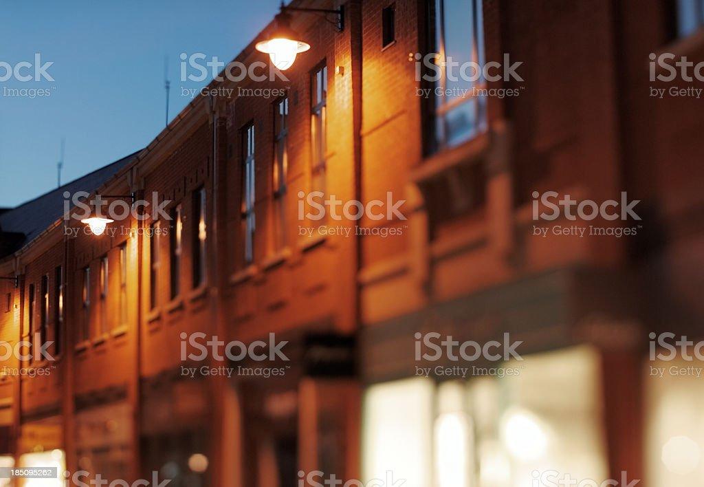 British High Street at night royalty-free stock photo