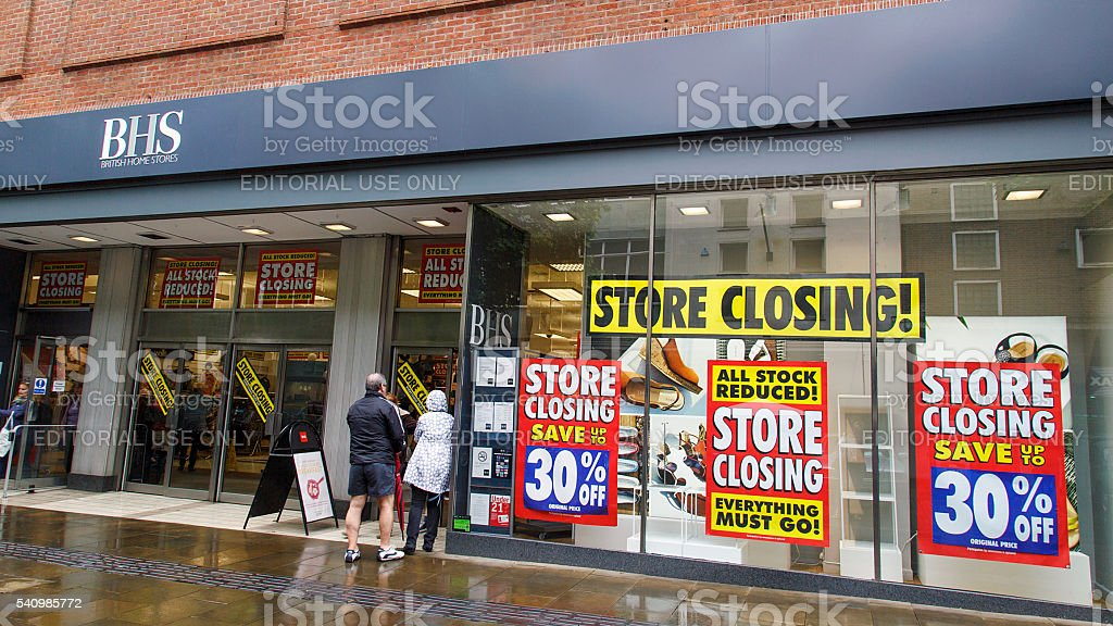British Home Stores stock photo