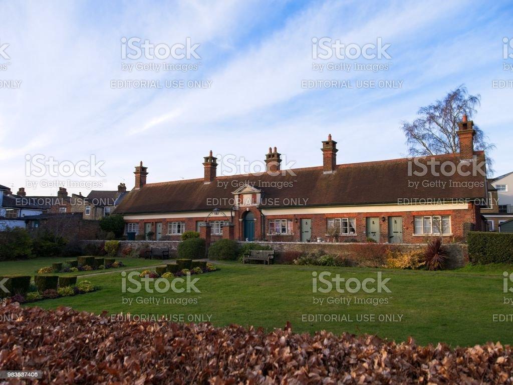 British Houses and Garden stock photo