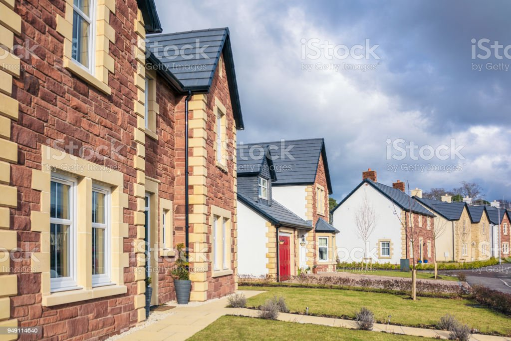 British Housing Estate - new builds stock photo