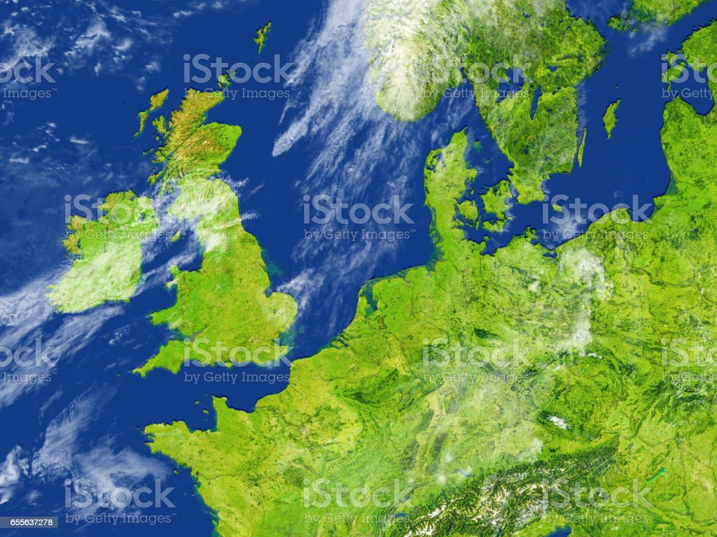 British Islands on planet Earth stock photo