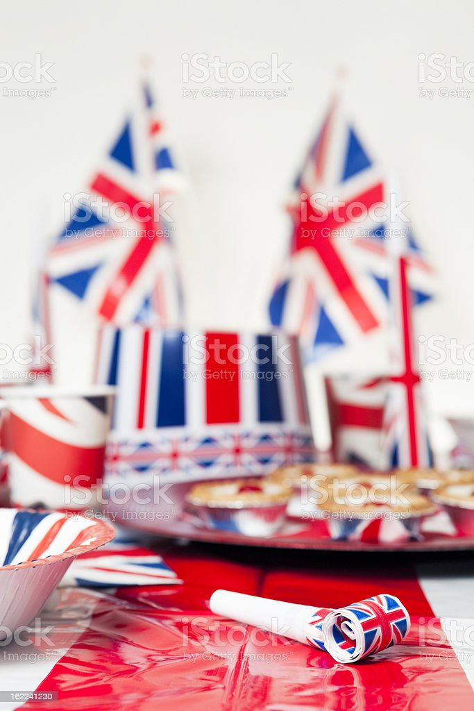 British Jubilee Party and Flags royalty-free stock photo