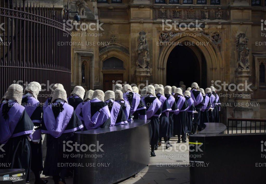 British Judges stock photo
