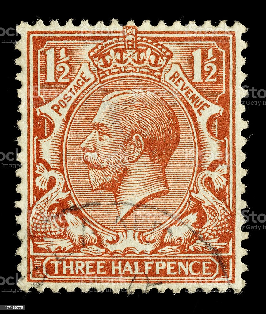 British King George V Postage Stamp Stock Photo Download