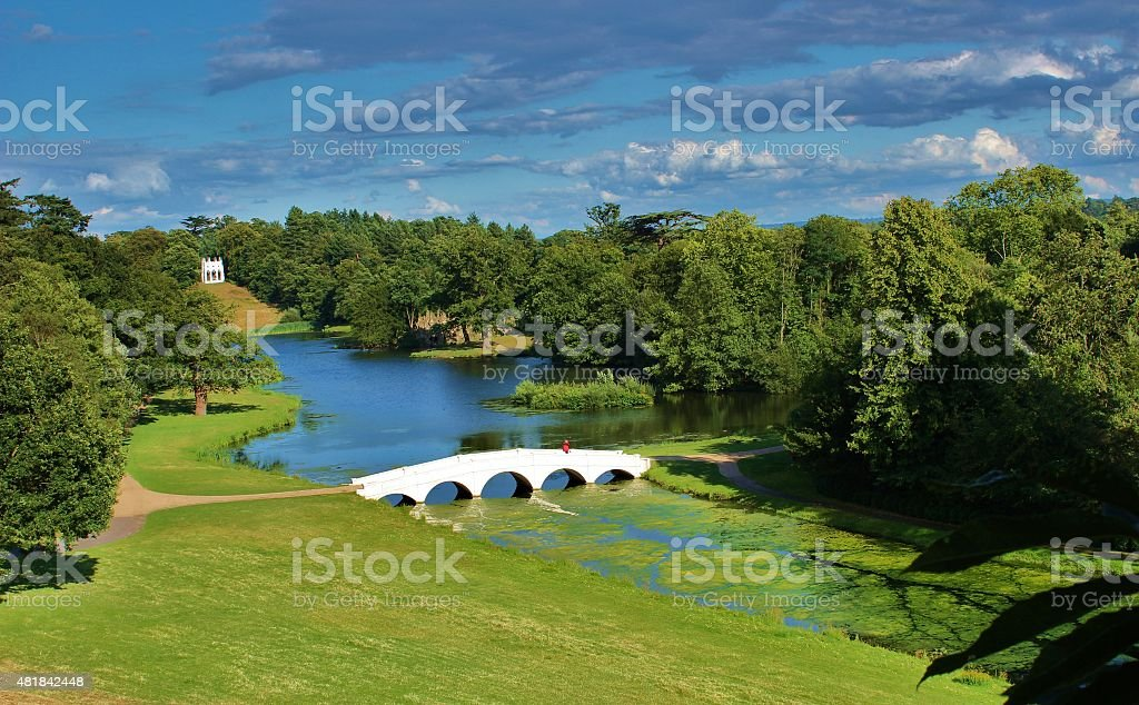 British landscapes - Painshill Park in Surrey stock photo
