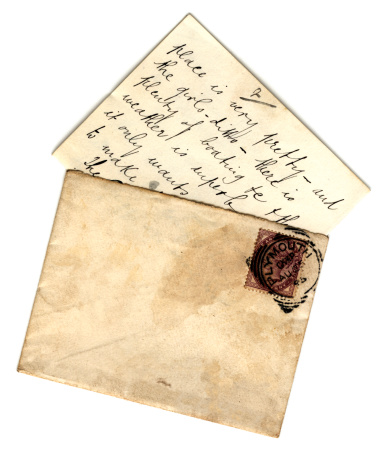 A letter postmarked Plymouth (England), describing the delights of the place!
