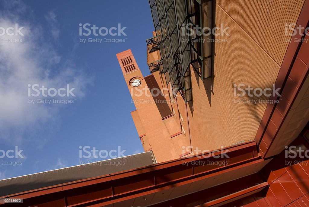 British Library Clock Tower royalty-free stock photo