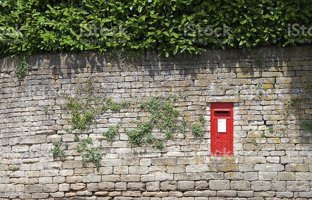 British mailbox - wide view stock photo