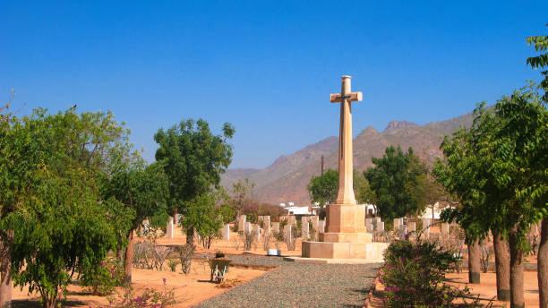 british military cemetery, keren, eritrea - eritrea stock photos and pictures