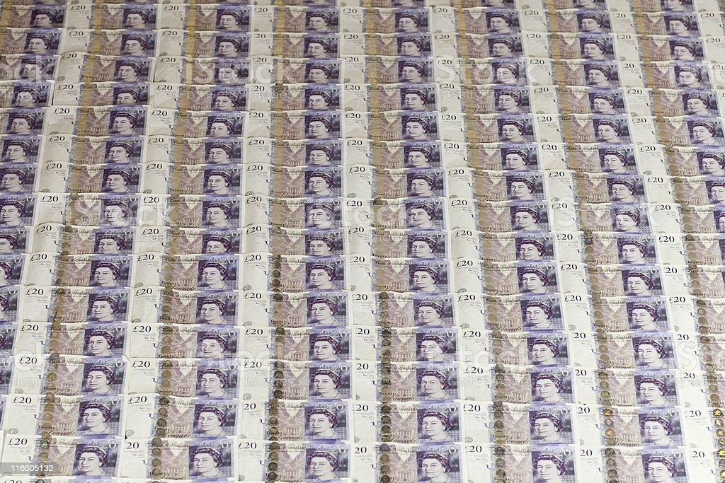 British Money Backgrounds royalty-free stock photo