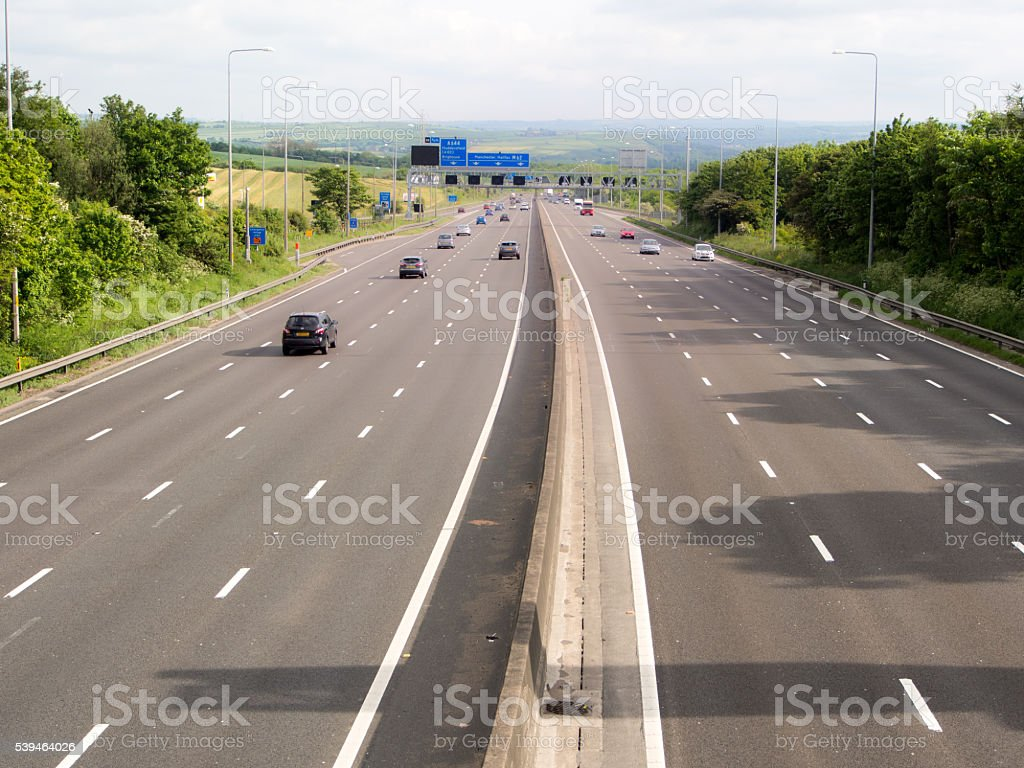 British Motorway - Road View stock photo