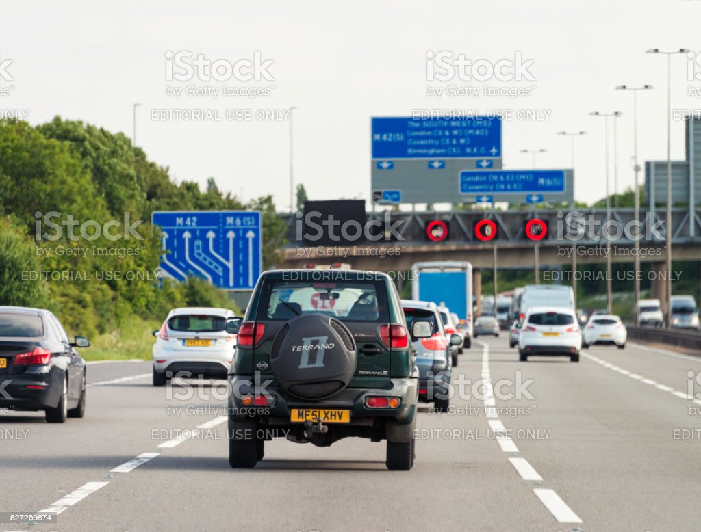 British motorway traffic stock photo