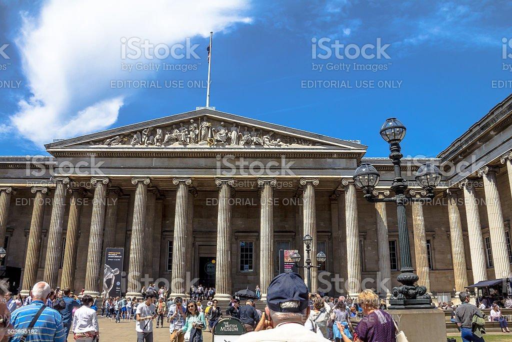 British Museum entrance. stock photo
