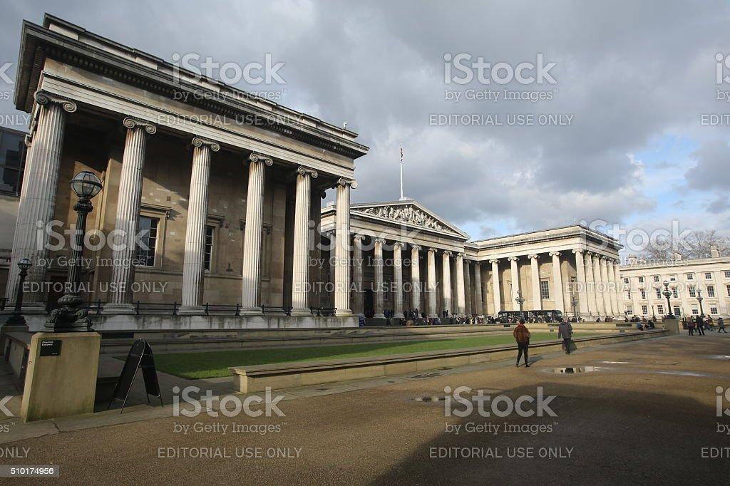 British Museum Exterior stock photo